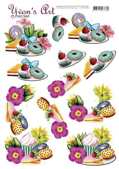 3D Cutting Sheets - Yvon's Art - Donuts