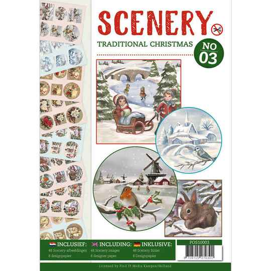 Push Out boek Scenery 3 - Traditional Christmas