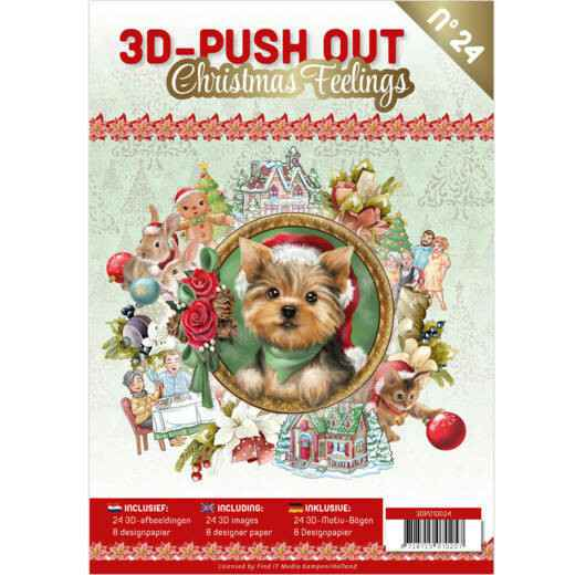 3D Push Out boek 24 - Christmas Feelings