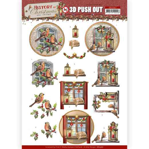 3D Push Out - Amy Design - History of Christmas - Christmas Window