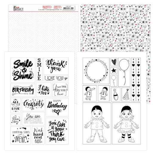 Mica Sheets - Yvonne Creations - Petit Pierrot