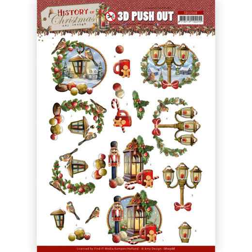 3D Push Out - Amy Design - History of Christmas - Christmas Lanterns