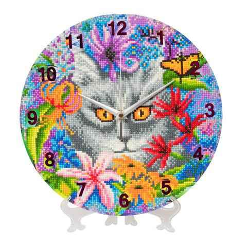 """CLK-S2: """"Clever Cat"""" Crystal Clock Kit -"""