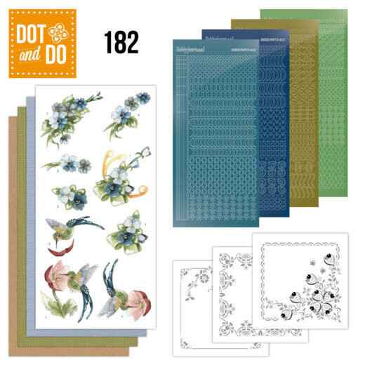 Dot and Do 182 - Precious Marieke - Blue Flowers