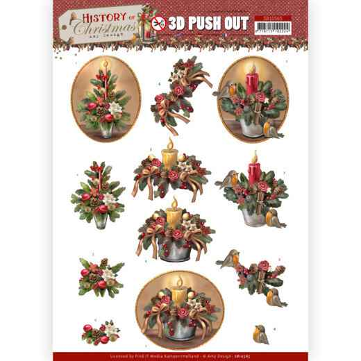 3D Push Out - Amy Design - History of Christmas - Christmas Candles
