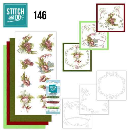 Stitch and Do 146 - Precious Marieke - Pretty Flowers - Red Flowers