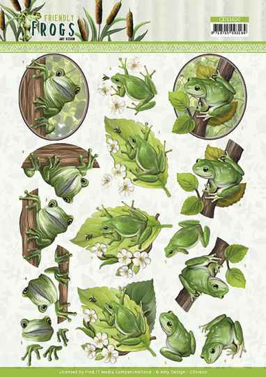 3D cutting sheet - Amy Design - Friendly Frogs - Tree Frogs