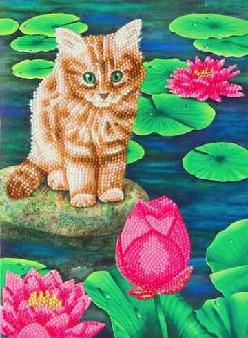 """CCKXL-5 """"Lily's Pond"""" Giant Crystal Art Card Kit"""