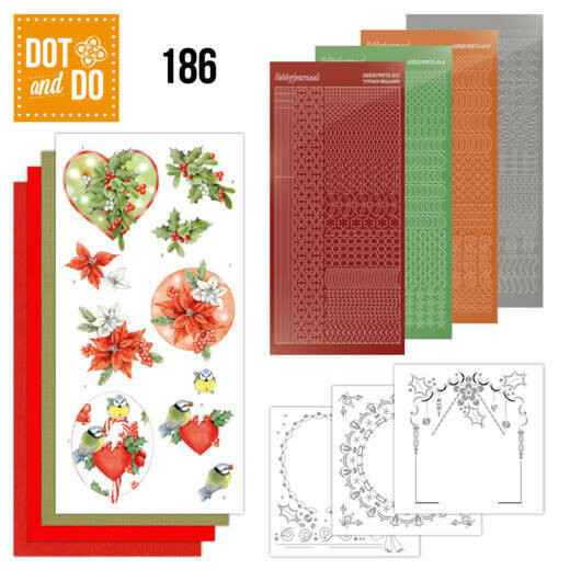 Dot and Do 186 - Jeanine's Art - Red Holly Berries
