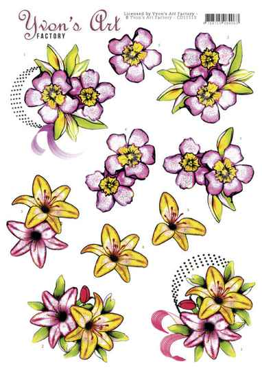 3D Cutting Sheet - Yvon's Art - Mothers Day
