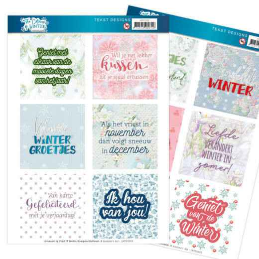 Text Designs - Jeanine's Art - The colours of winter (NL)