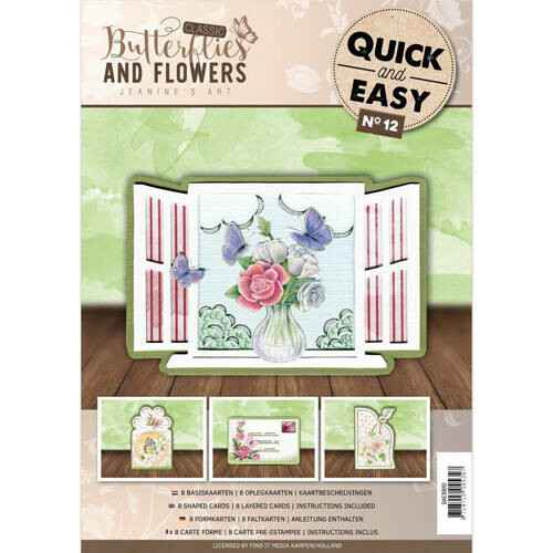 uick and Easy 12 - Jeanine's Art - Classic Butterflies and Flowers  Quick and Easy  QAE10012