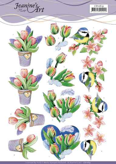 3D Cutting Sheet - Jeanine's Art - Tulips and Blossom