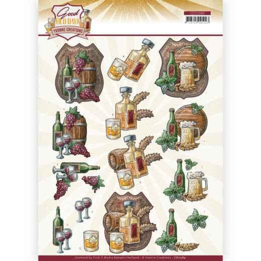 3D cutting sheet - Yvonne Creations - Good old day's - Whiskey