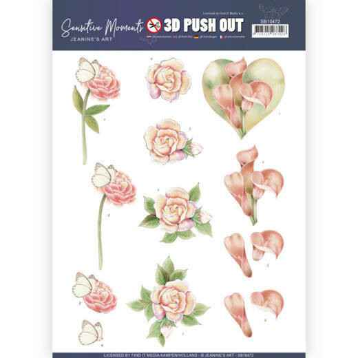 3D Push Out - Jeanine's Art - Sensitive Moments - Calla Lily