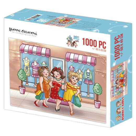 Puzzel 1000 pc - Yvonne Creations - Bubbly Girls Shopping 001 YCPZ1001
