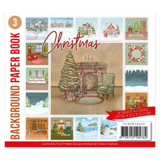 Background Paper Book 3 - Yvonne Creations - Christmas