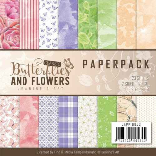 Paperpack - Jeanine's Art Classic Butterflies and Flowers JAPP10003