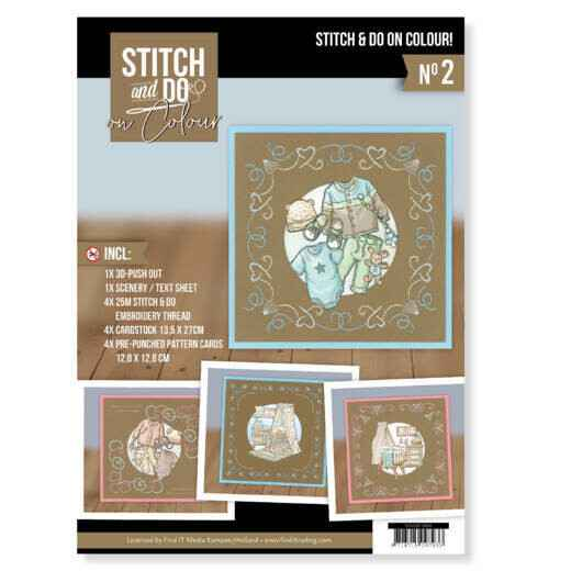 Stitch and Do on Colour 002 - Yvonne Creations - Newborn