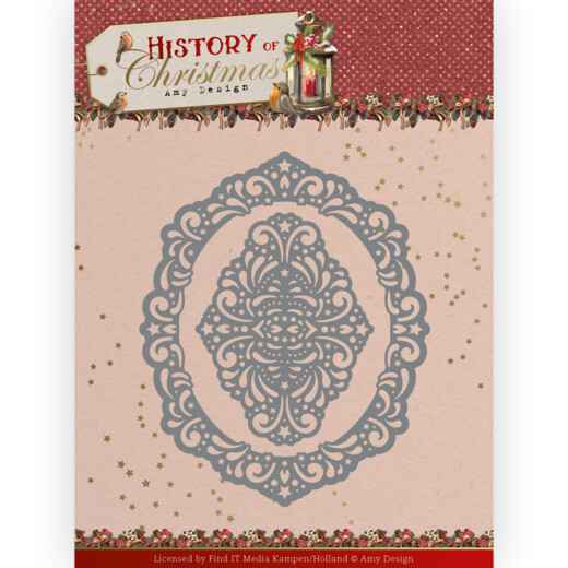 Dies - Amy Design - History of Christmas - Lacy Christmas Oval