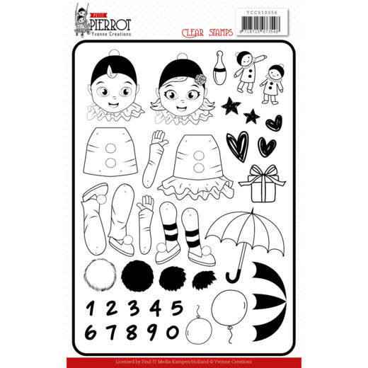 Clear Stamps - Yvonne Creations - Petit Pierrot