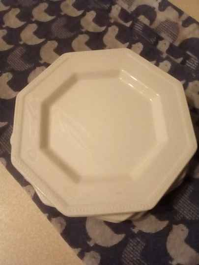 Borden Bread & Butter Plate Heritage White Johnson Brothers Ironstone Made England