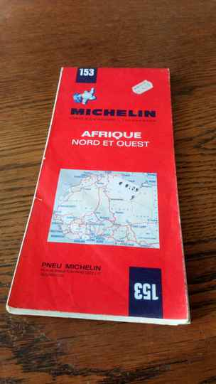 153 Michelin Africa north and west Vintage