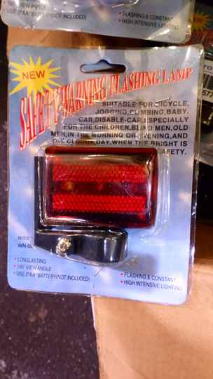 Rear bicycle lamp