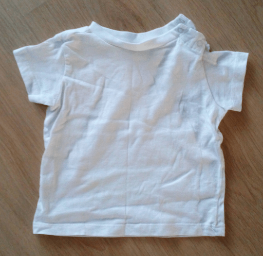 T-shirt C&A Baby Club wit, maat 68