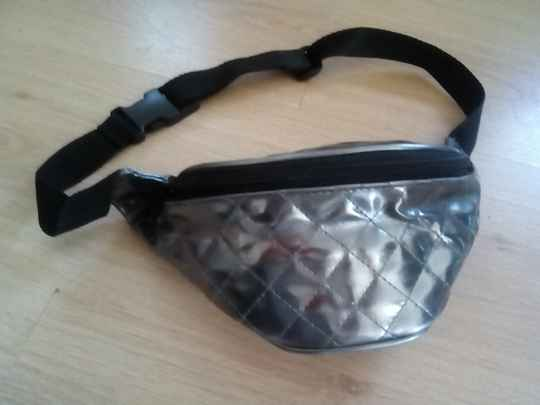 Waist bag silver colored