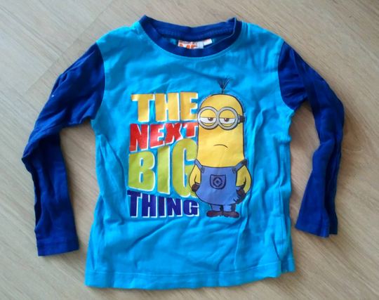 Shirt lange mouw Despicable Me, maat 104/110