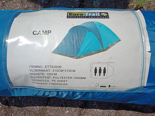 Tent Eurotrail Camp 3 persoons