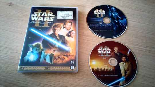 2 DVD Star Wars 2 attack of the clones