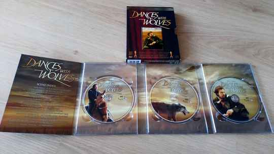 3 DVD Dances with wolves