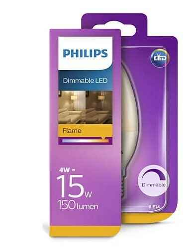 Philips Dimmable Led Flame 15w 150 lumen