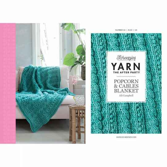 """Yarn, the after party """"Popcorn cables blanket"""""""
