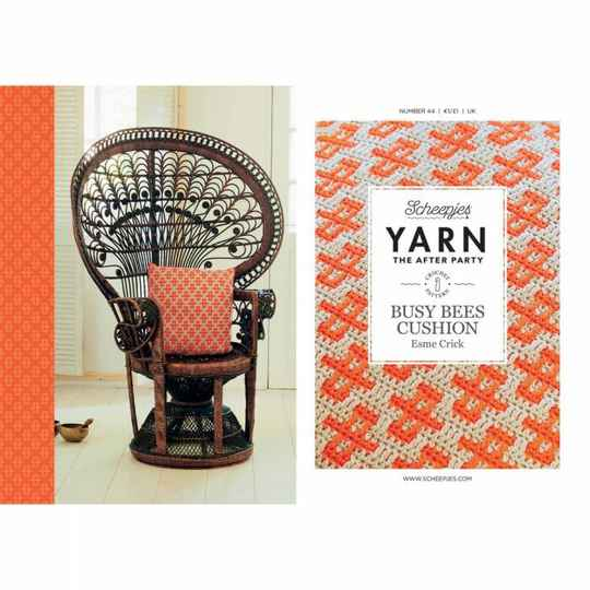 """Yarn, the after party """"Busy bees cushion"""""""