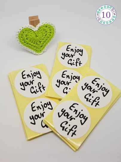 Sticker Enjoy your gift per 20