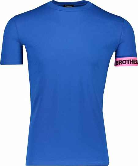 Dsquared2 - Band Tee - Blue/Pink