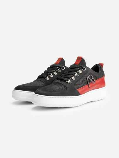 AB Lifestyle - Sneaker Leather - Black / Red