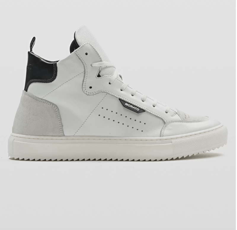 "ANTONY MORATO ""KEEN"" HIGH-TOP SNEAKER IN SOFT LEATHER WITH BUFFED-LEATHER DETAILING WIT"