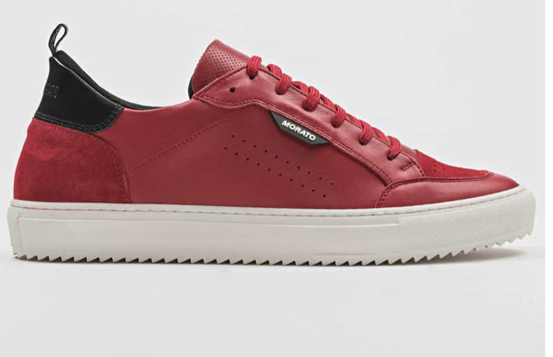"ANTONY MORATO ""KEEN"" SNEAKER IN LEATHER WITH BUFFED AND SUEDE DETAILING ROOD"