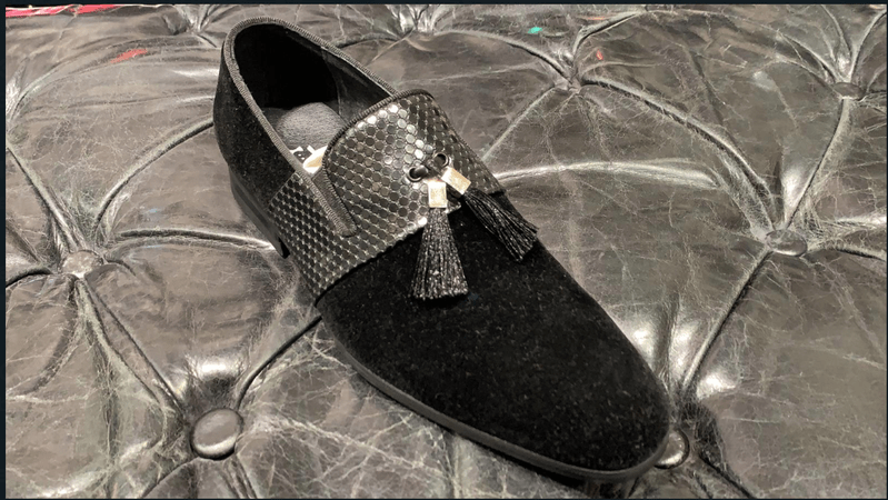 LOAFERS PARIS BLACK WITH LEATHER