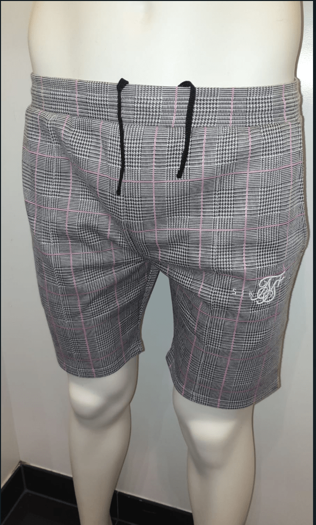 SIK SILK SHORT GREY/PINK