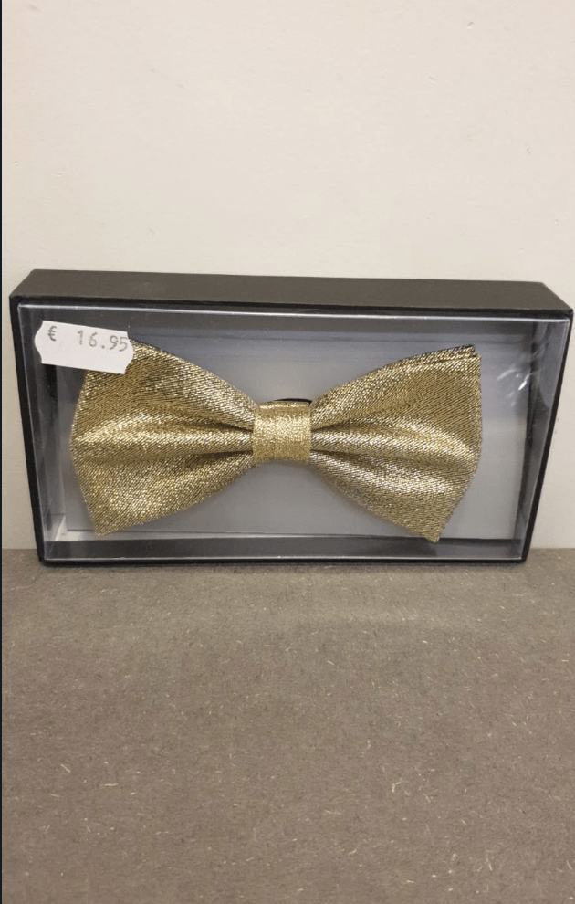 POLYESTER BOW TIE GOLD