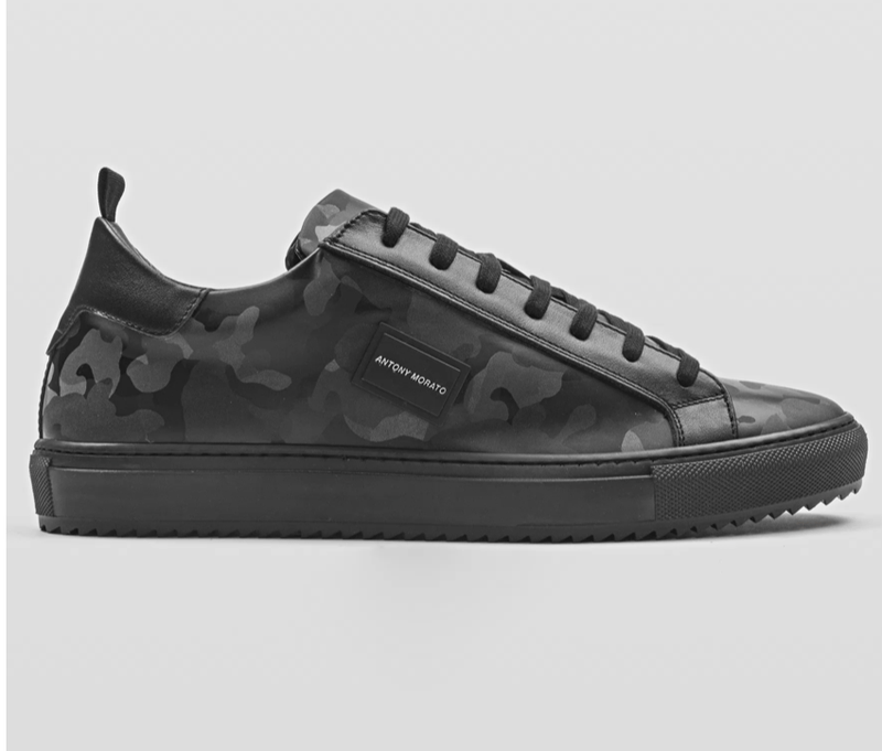 "ANTONY MORATO ""DUGGER METAL"" LOW-TOP SNEAKER IN SYNTHETIC CAMOUFLAGE FABRIC"