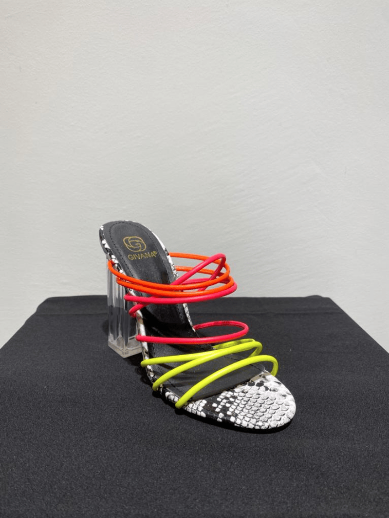 HEELED SLIPPERS MULTICOLOR