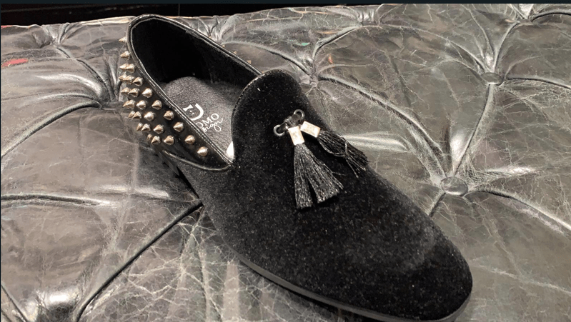 LOAFERS PARIS BLACK WITH SPIKES