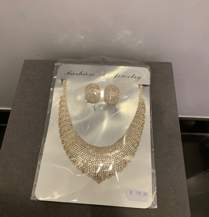 NECKLACE WITH EARRINGS PARIS GOLD/SILVER
