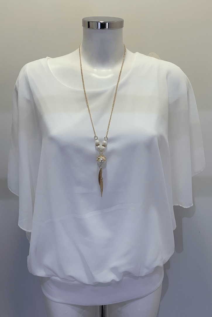 TOP PARIS WHITE WITH CHAIN